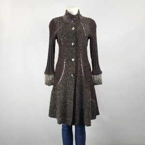 Feelings Mohair Brown Knit Cardigan Size S